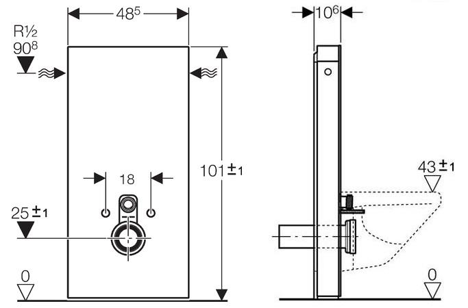 Modul Sanitarny Do Wc H101 131 022 Sl 5 Termicotychy Pl