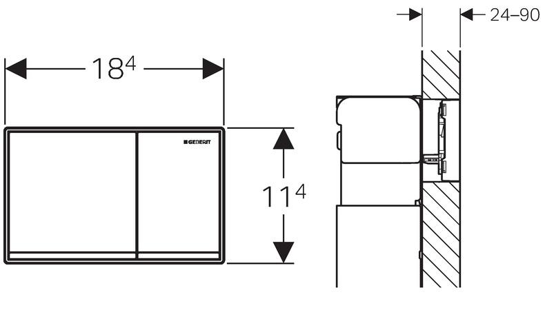 geberit omega60 przycisk sp ukuj cy do wc bia y. Black Bedroom Furniture Sets. Home Design Ideas