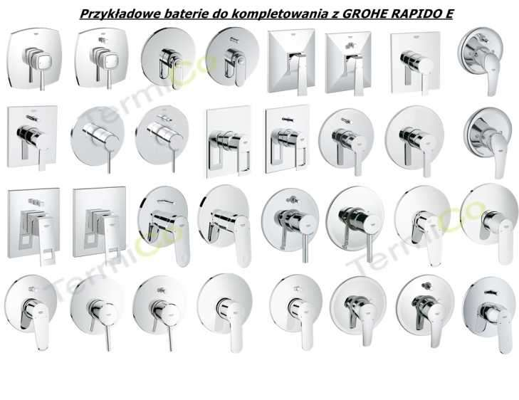 element podtynkowy grohe rapido e 35501000. Black Bedroom Furniture Sets. Home Design Ideas