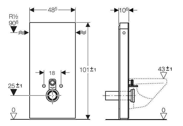 modu sanitarny do wc h101. Black Bedroom Furniture Sets. Home Design Ideas
