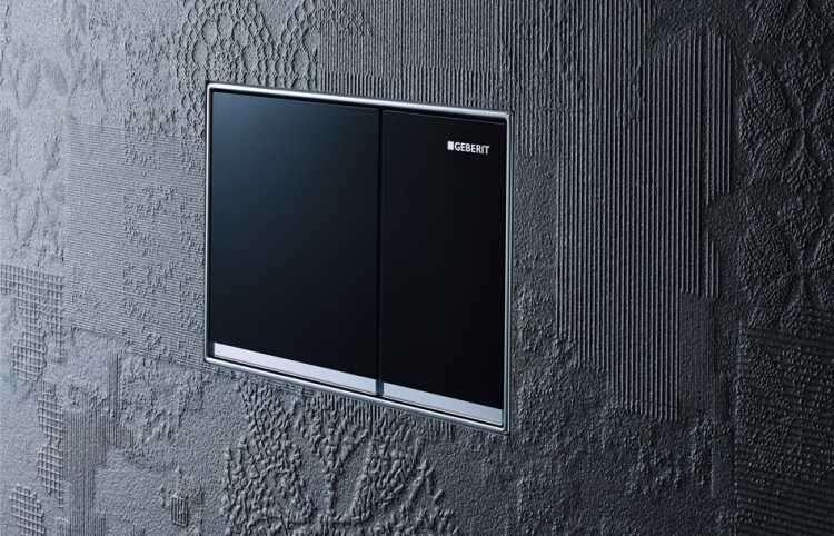 geberit omega 60 przycisk sp ukuj cy szk o czarne. Black Bedroom Furniture Sets. Home Design Ideas