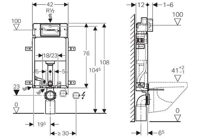 geberit kombifix basic stela do wc h108 up100. Black Bedroom Furniture Sets. Home Design Ideas