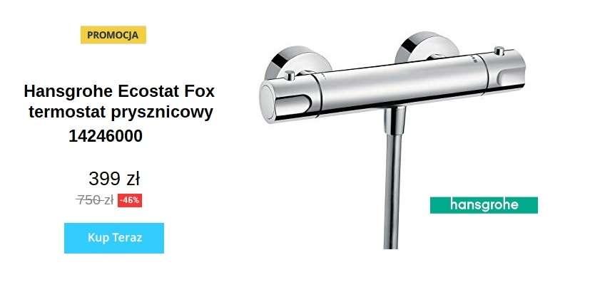 Promocja na ścienną termostatyczną baterię prysznicowąHansgrohe Ecostat Fox 14246000