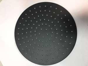 Bossini Cosmo 280 Black czarna deszczownica z ramieniem sufitowym