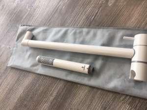 Bossini Zen White ABS biały komplet prysznicowy na drążku