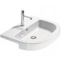 Catalano Zero Tondo umywalka 65x46 cm półokrągła biała 1LSZE00