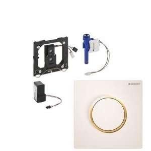 GEBERIT SIGMA10 IR elektroniczny zawór spłukujący do pisuaru biały/pozałacany/biały 230V 116.025.KK.1