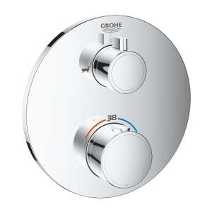 Grohe Grohtherm Round 24077000 podtynkowy termostat wannowy
