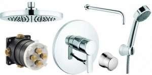Kludi Zenta 250 komplet prysznicowy podtynkowy