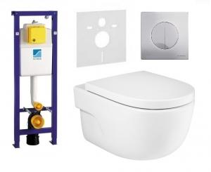 Pakiet podtynkowy wc Schwab Atena Duo mat + Roca Meridian Rimless