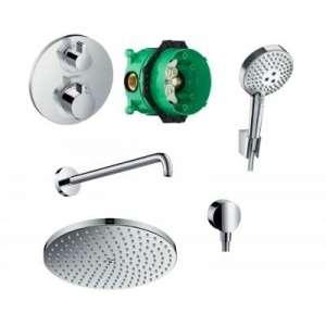 Podtynkowy, termostatyczny zestaw prysznicowy Hansgrohe 52056499