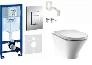 Podtynkowy pakiet WC Grohe 5w1 38827000 + Nexo Rimles