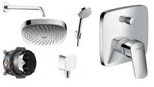 Podtynkowy komplet prysznicowy Hansgrohe Logis E180