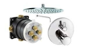 Podtynkowy termostatyczny zestaw prysznicowy Kludi Balance 1f