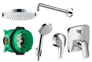 Podtynkowy zestaw prysznicowy Hansgrohe Logis 220