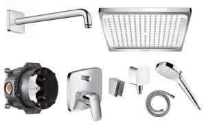 Podtynkowy zestaw prysznicowy Hansgrohe Logis E240
