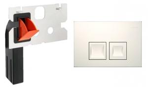 Przycisk Geberit Delta50 biały + kostkarka