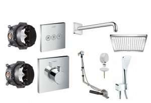 Shower Select zestaw podtynkowy do 3 odbiorników