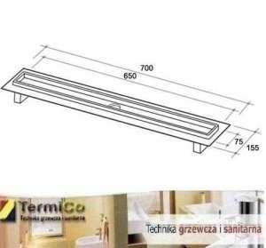 Tece Drailine odwodnienie liniowe - rynna prosta L-700mm 600700