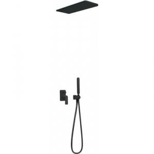Tres Loft Black zestaw prysznicowy podtynkowy czarny mat 200.180.05.NM