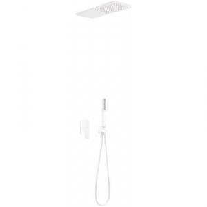 Tres Loft White podtynkowy zestaw prysznicowy biały mat 200.180.05.BM