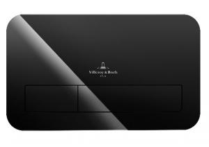 Villeroy & Boch ViConnect przycisk spłukujący szkło czarne 922400RB