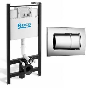 Zestaw podtynkowy wc Roca Active + przycisk chromowany