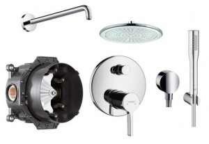 Hansgrohe Metris S podtynkowy zestaw prysznicowy