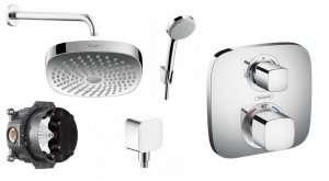 Termostatyczny komplet podtynkowy pod prysznic Ecostat