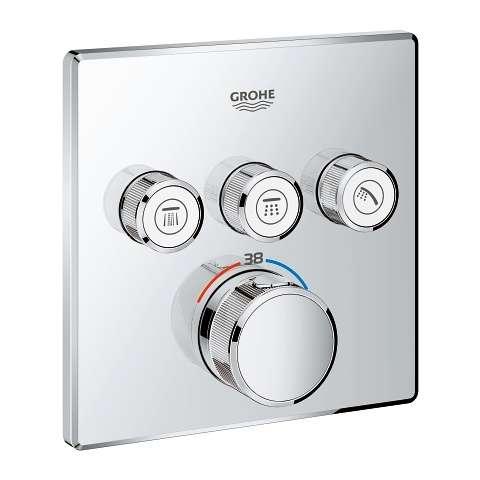 Grohe SmartControl podytnkowy termostat na 3 odbiorniki 29126 000, do kompletowania z Grohe 35600000.-image_Grohe_29126000_1