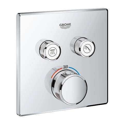 Grohe Grohtherm Smartcontrol podtynkowy termostat na 2 wyjścia 2912400, do kompletowania z Grohe 35600000.
