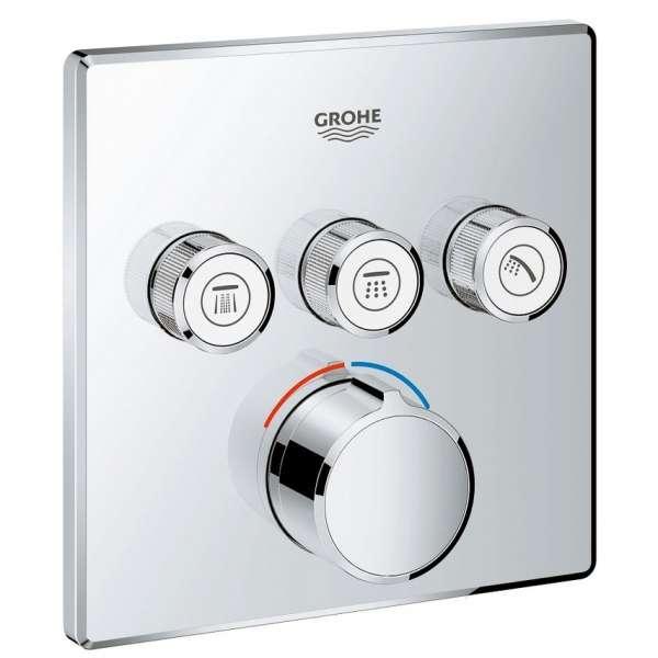 Podtynkowa bateria do obsługi 3 odbiorników Grohe Smartcontrol 29149000, element zewnętrzny do kompletowania z 35600.