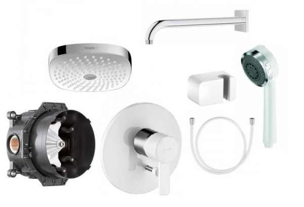 Kludi Zenta White prysznicowy pakiet podtynkowy KL/ZENTAW/180 -image_Hansgrohe / Kludi_KL/ZENTAW/180_1