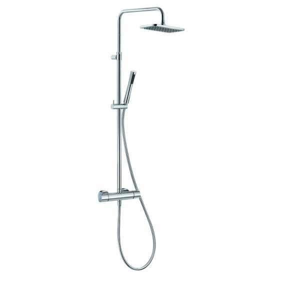 Natynkowy zestaw prysznicoy z termostatem i zintegrowaną deszczownica Kludi Aqua Dual Shower 490950500.