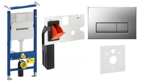 Geberit Duofix Basic w zestawie z przyciskiem Delta 51 w kolorze matowym oraz kostkarka higieniczną.-image_Geberit__1