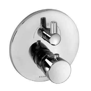 Podtynkowy termostat wannowy Kludi Balance 528300575, element zewnętrzny w chromie do obsługi 2 odbiorników.-image_Kludi_528300575_1