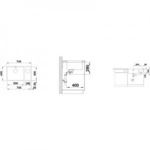 Dane techniczne zlewozmywaka Blanco Andano-U 500/180-U 522992-image_Blanco_522992_2