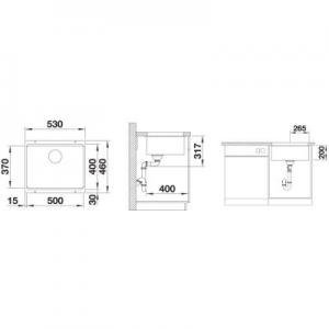 Wymiary techniczne zlewozmywaka Blanco Etagon 500-U 522228-image_Blanco_522228_2