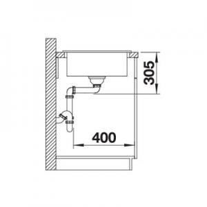 Rysunek techniczny komory do kuchni Blanco Idessa XL 520308-image_Blanco_520308_3