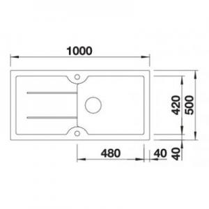 Wymiary techniczne zlewozmywaka Blanco Idessa XL 520308-image_Blanco_520308_2