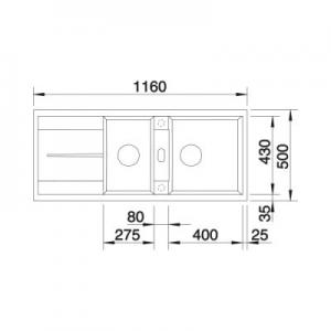 Wymiary techniczne zlewozmywaka Blanco Metra 8 S 513065-image_Blanco_513065_2