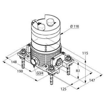 Wymiary techniczne elementów wewnętrznych Kludi Balance 88088-image_Kludi_88088_3