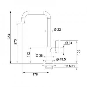 Dane techniczne baterii kuchennej Franke Elegance 115.0296.803-image_Franke_1150296803_2