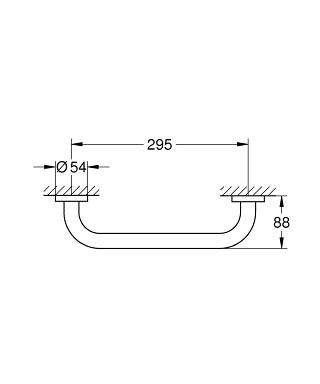 Rysunek techniczny uchwytu do wanny Grohe Essentials 40421001-image_Grohe_40421001_4