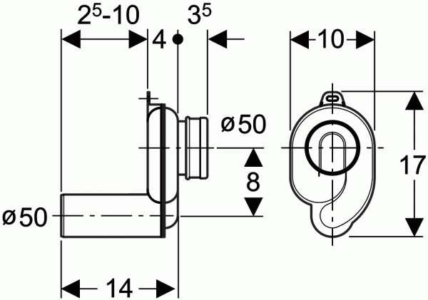wymiary techniczne syfonu pisuarowego -image_Geberit_152.950.11.1_3