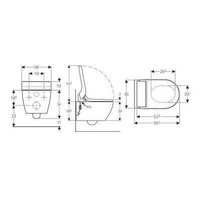 Rysunek techniczny AquaClean Tuma Comfort 146.292.11.1-image_Geberit_146.292.11.1_3