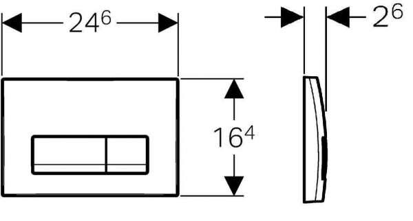 Wymiary techniczne przycisku spłukującego Geberit Delta51 w wersji chrom błyszczący 115105211.-image_Geberit_115.105.21.1_3