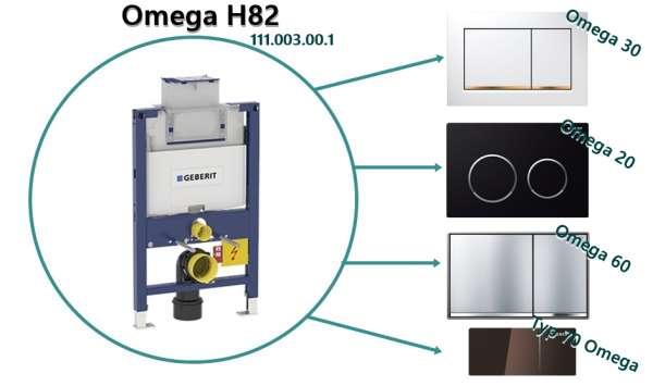 Obrazek spłuczki podtynkowej Geberit Omega wraz z pasującymi przyciskami spłukującymi-image_Geberit_111.003.00.1_5