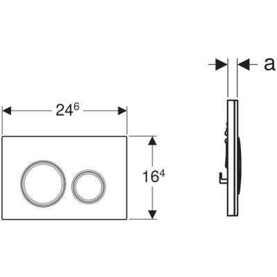 Wymiary techniczne szklanego przycisku spłukującego Geberit Sigma21 115884SI1 -image_Geberit_115.884.SI.1_7