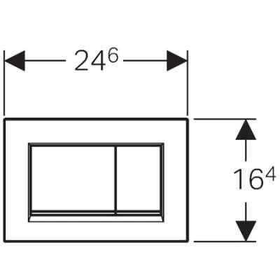Wymiary techniczne przycisku spłukującego Geberit Sigma30 115.883.KH.1 do spłuczek Duofix UP320 oraz Kombifix.-image_Geberit_115.883.KH.1_4